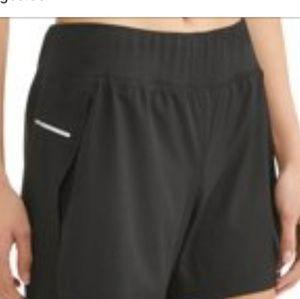 NEW Avia Black Shorts bike liner back zip 2X or 3X